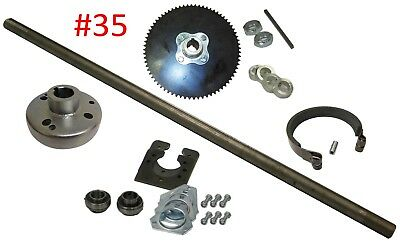 "Go Kart Rear Axle Kit Complete 1"" #35 Chain Set Off-Road Fun Cart Parts DIY NEW"