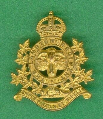 Canada Militia Officer Lambton Regiment Cap Badge County