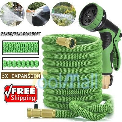 Garden Hose, 3X Stronger, 50/100 Feet Strongest Expandable Hose, with All Brass