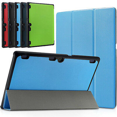 Leather Slim Smart Cover Magnetic Stand Case For Lenovo Tab E10 10.1 Tablet UK