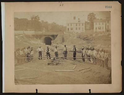 Photo:Railroad construction workers,c1862,Andrew Russell