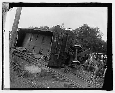 Photo:Railroad wreck,Disaster,Train Wreck,1922,RR