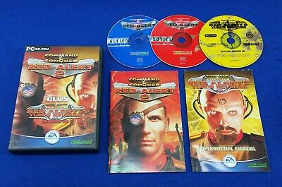 pc COMMAND & And CONQUER *y Red Alert 2 + Yuri's Revenge Mission CD REGION FREE