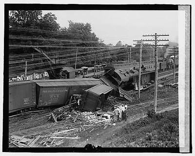Photo:Railroad wreck,Disaster,Train Wreck,1922,RR,8