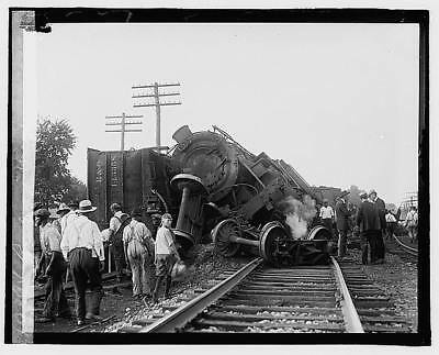 Photo:Railroad wreck,Disaster,Train Wreck,1922,RR,6