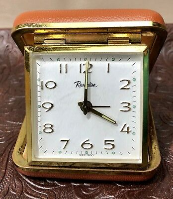 Travel Alarm Clock Vintage Revelation Germany Hand Windnon working RD12/AC183