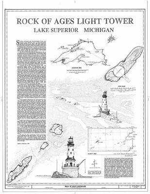 Rock of Ages Lighthouse,Copper Harbor,Keweenaw County,MI,Michigan,HABS