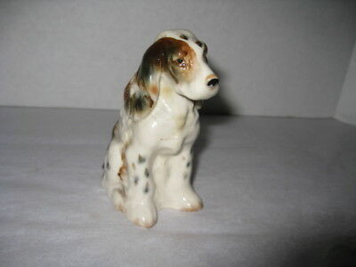 "Vintage Porcelain Springer Spaniel Dog Figurine - Japan - 4"" tall"