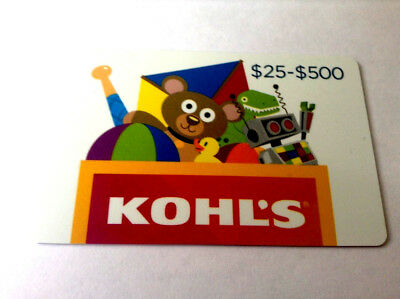 Kohl's Gift Card  NO VALUE ------0---balance rechargeable