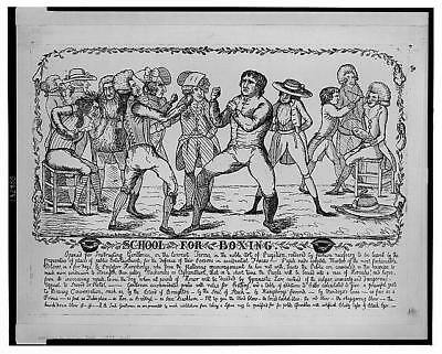 School for Boxing,1788,Men engaged in Boxing Match,False Black Eyes,Boxers
