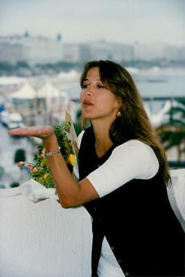Portrait image of Sophie Marceau was taken at the Cannes Film Festival, where sh