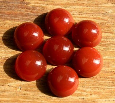 15 Pcs TOP LOT NATURAL RED ONYX 12X12  MM ROUND CABOCHON GEMSTONE