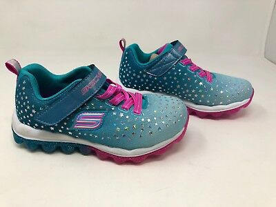 New Skechers Girls Toddler Skech air Star Jumper Aqua //Pink  80144L 58S