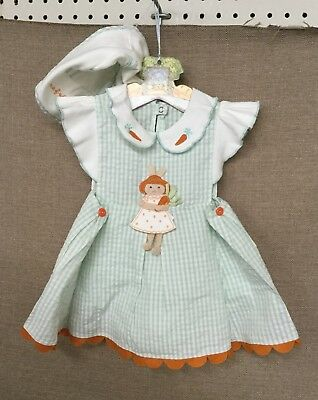 """BUNNIES BY THE BAY BABY """"Bumper Crop Smock & Bloomers"""" Sz. 3-12 Months"""