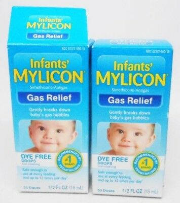 Pack of 2 MYLICON Infants/' Gas Relief Original Drops 50 Doses 0.5 Ounce