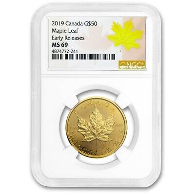 2019 Canada 1 oz Gold Maple Leaf MS-69 NGC (Early Release)
