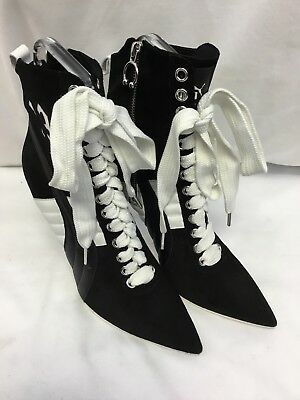 08ea429d45bf20 Puma Women s Fenty by Rihanna Collection High Heel Leather Sneaker Black  SIZE 11