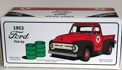 New In The Box 1St Gear Die Cast Texaco 1953 Ford F-100 Pickup 1:34 Scale*