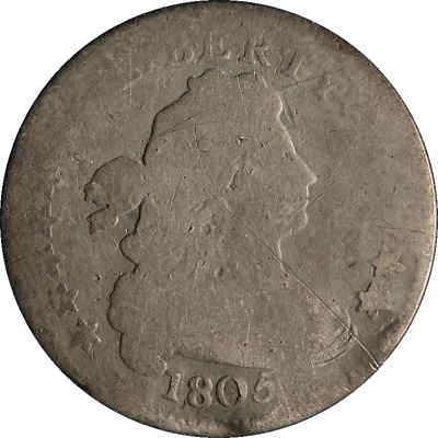1805 Bust Dime AG/G Details Strong Date Good Value