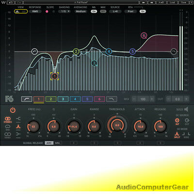 Waves F6 Floating-Band Dynamic EQ Equalizer Audio Software Plug-in NEW