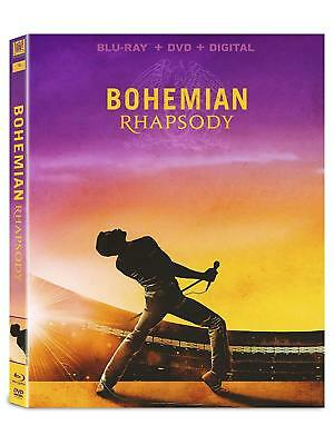 Bohemian Rhapsody NEW BLU-RAY + DVD Freddie Mercury, QUEEN