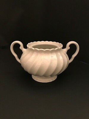 Johnson Brothers Regency White Ironstone Sugar Bowl NO LID  Footed