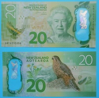$20 NEW ZEALAND BANKNOTE - new issue polymer 2016 UNC mint