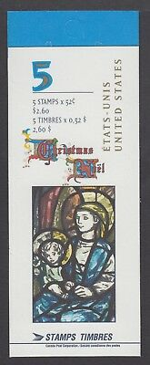 CANADA BOOKLET BK203b 5 x52c CHRISTMAS - JESUS AND MARY, OPEN COVER WITH TI