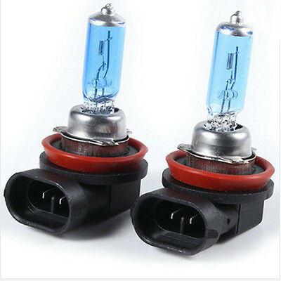 2x H11 6000K Headlight Fog Lights BULBS 55W 12V SUPER WHITE XENON LAMP