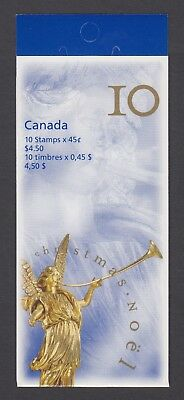 CANADA BOOKLET BK211Ab 10 x 45c CHRISTMAS - ANGEL, OPEN COVER WITH TI 13 X 13.5