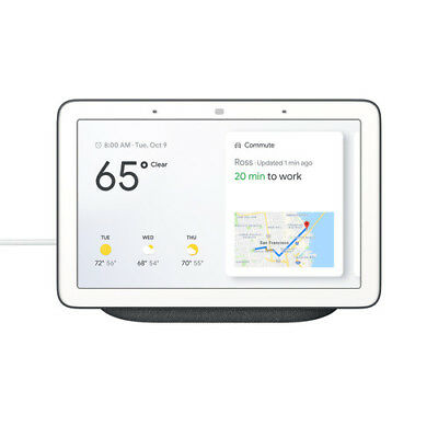 Google Home Hub with Google Assistant (GA00515-US) Charcoal | Brand New