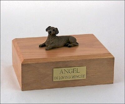 Red Dachshund Pet Funeral Cremation Urn Avail in 3 Different Colors & 4 Sizes