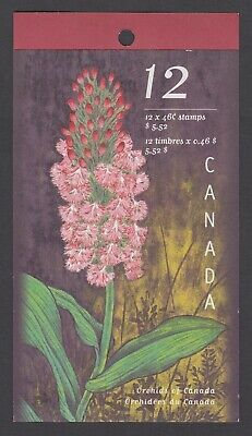 CANADA BOOKLET BK219a 12 x 46c ORCHIDS OF CANADA, GLUED FLAP NO TI
