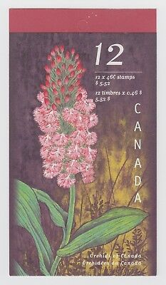 CANADA BOOKLET BK219b 12 x 46c ORCHIDS OF CANADA, OPEN COVER WITH TI