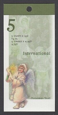 CANADA BOOKLET BK224a 5 x 95c CHRISTMAS - ANGEL WITH CANDLE, GLUED FLAP NO TI