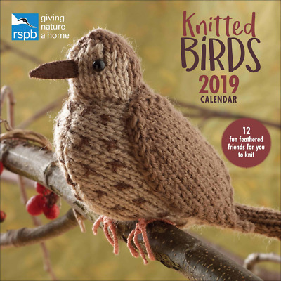 Knitted Birds Rspb W 2019, Calendar 2019 (Square)