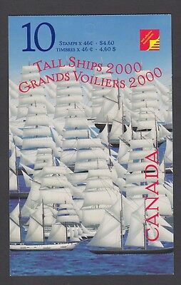CANADA BOOKLET BK230b 10 x 46c TALL SHIPS, OPEN COVER WITH TI