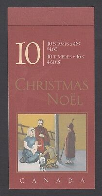 CANADA BOOKLET BK233b 10 x 46c CHRISTMAS - SHEPHERDS, OPEN COVER WITH TI