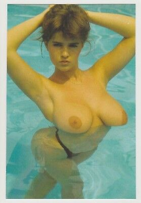 Postcard Pinup Risque Nude Stunning Girl Extremely Rare Photo Post Card 9399