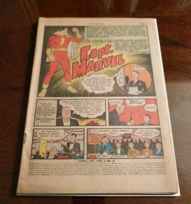 Whiz Comics 15 Coverless And Complete 1941