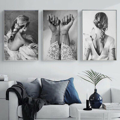 AU_ Nordic Art Dancing Girl Canvas Print Painting Home Wall Poster Decor Unframe
