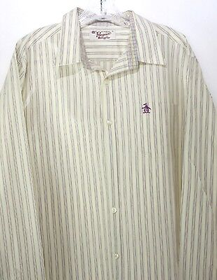 8e3d87a9fb0 ORIGINAL PENGUIN HERITAGE Slim Fit Striped Henley Shirt NWT $55 T ...