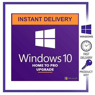 Upgrade Windows 10 Home to Pro key + Windows 10 Pro Genuine License Product Key