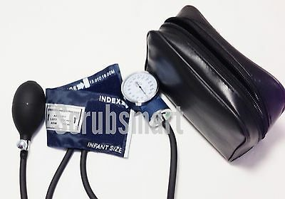 INFANT size cuff Aneroid Sphygmomanomer Manual Blood Pressure Monitor Set + Case