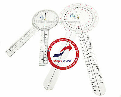 US Seller! New 2 PIECE SET Lot! EMI Protractor Goniometer 12 inch and 8 inch
