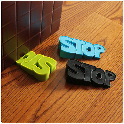 901B Durable Door Clip Doorstops Word Silicone Protector Home Security Baby