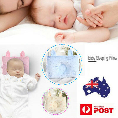 Baby Infant Cot Pillow Preventing Flat Head Neck Syndrome for newborn Girl Boy A