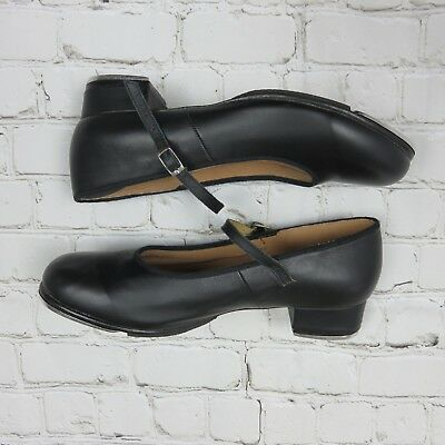 Bloch Techno Tap #2H Womens Black Leather Mary Jane Style Tap Shoes Sz 10