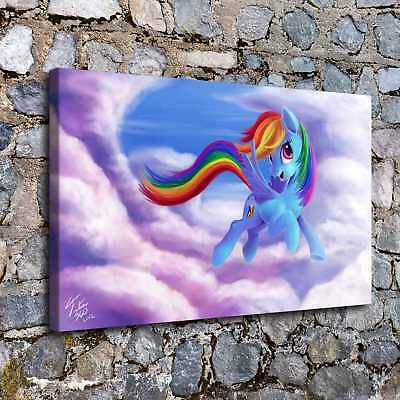 """12""""x20""""My Little Pony HD Canvas prints Painting Home Decor Picture Room Wall art"""