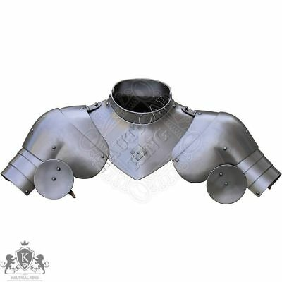 Bevor with gorget and pauldrons 15th century medieval knight Reenactment Replica